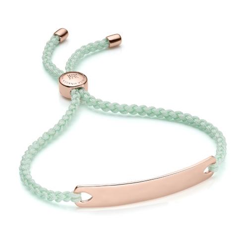 Rose Gold Vermeil Havana Friendship Bracelet - Mint - Monica Vinader