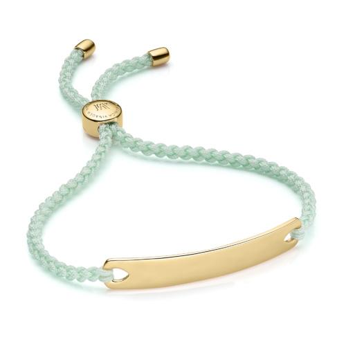 Gold Vermeil Havana Friendship Bracelet - Mint - Monica Vinader
