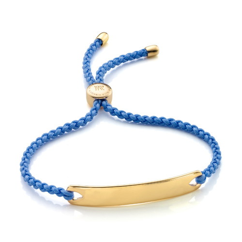 Gold Vermeil Havana Friendship Bracelet - Powder Blue - Monica Vinader