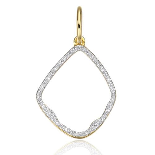 Gold Vermeil Riva Diamond Hoop Pendant - Diamond - Monica Vinader