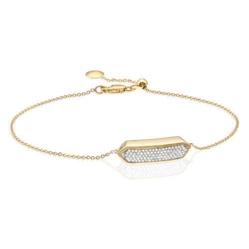 Gold Vermeil Baja Mini Bracelet - Diamond - Diamond - Monica Vinader