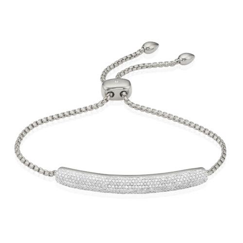 Esencia Pave Bar Bracelet - Diamond
