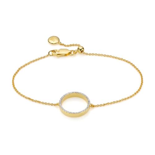 Gold Vermeil Naida Circle Open Bracelet