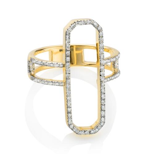 Gold Vermeil Naida Cocktail Ring - Diamonds