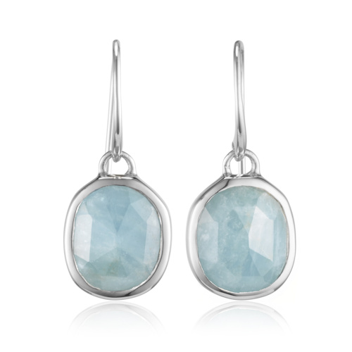 Siren Wire Earrings - Aquamarine