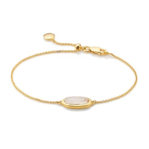Gold Vermeil Vega Bracelet - Moonstone