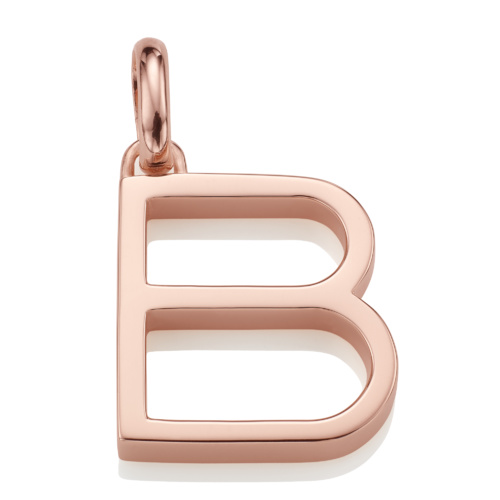 Rose Gold Vermeil Alphabet Pendant B