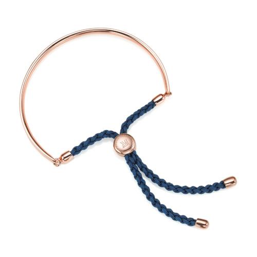 Rose Gold Vermeil Fiji Friendship Bracelet - Teal