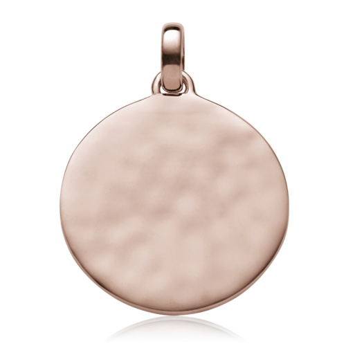 Rose Gold Vermeil Siren Medium Round Pendant - Monica Vinader