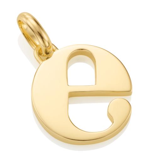 Gold Vermeil Alphabet Pendant E