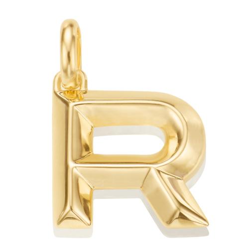 Gold Vermeil Alphabet Pendant R