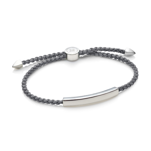 Linear Men's Friendship Bracelet - Steel Grey - Monica Vinader