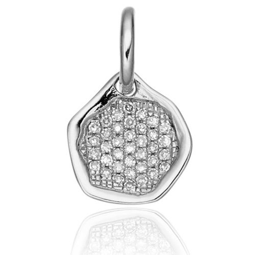 Riva Diamond Mini Pendant - Diamond - Monica Vinader