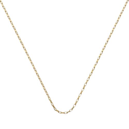 Gold Vermeil Fine Open Link Chain - 20