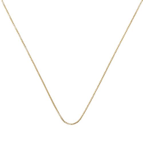 Gold Vermeil Fine Oval Box Chain -18