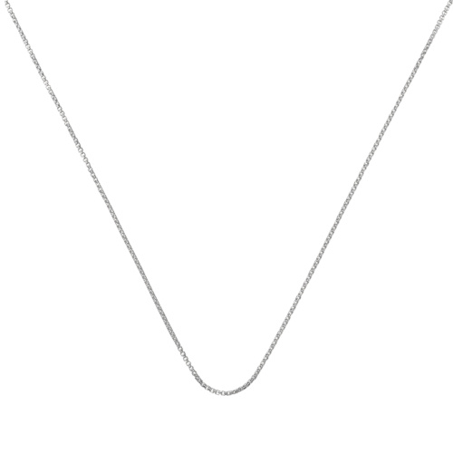 Fine Oval Box Chain -18