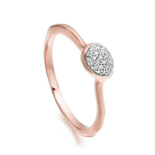 Rose Gold Vermeil Siren Diamond Small Stacking Ring