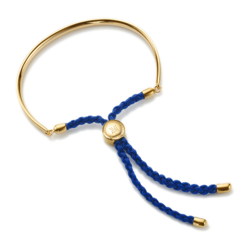 Gold Vermeil Fiji Friendship Bracelet - Royal Blue