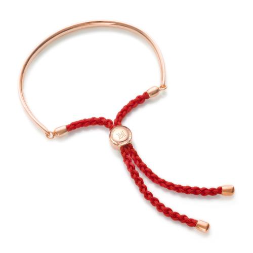 Rose Gold Vermeil Fiji Friendship Bracelet - Coral