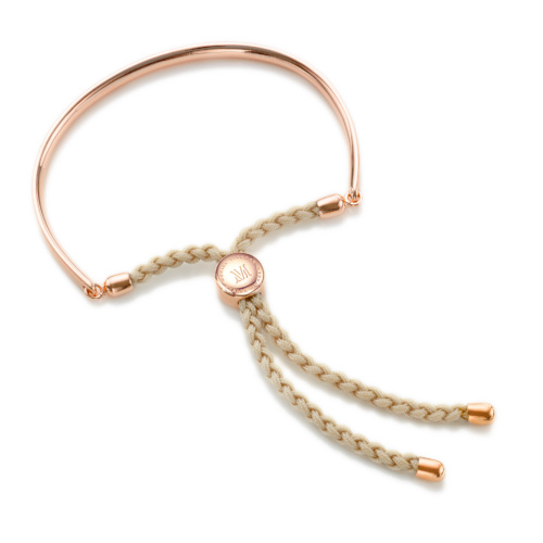 Rose Gold Vermeil Fiji Friendship Petite Bracelet - Nude