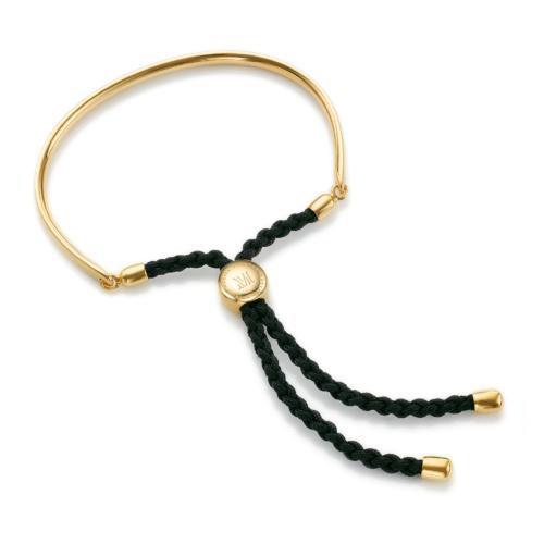 Gold Vermeil Fiji Friendship Petite Bracelet - Black - Energy