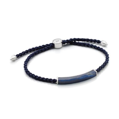Linear Men's Stone Bracelet - Dumortierite - Monica Vinader