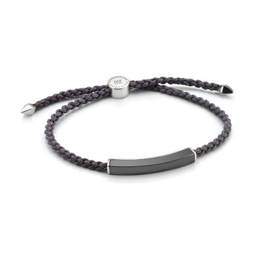 Linear Men's Stone Bracelet - Hematite - Monica Vinader