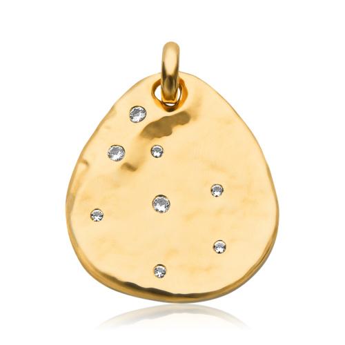 Gold Vermeil Siren Scatter Pendant - White Topaz
