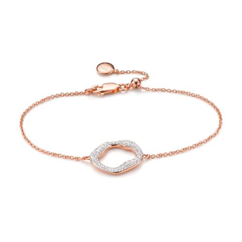 Rose Gold Vermeil Riva Circle Chain Bracelet