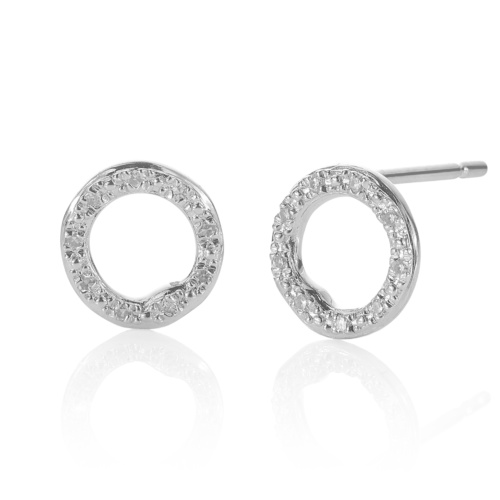 Riva Circle Stud Earrings
