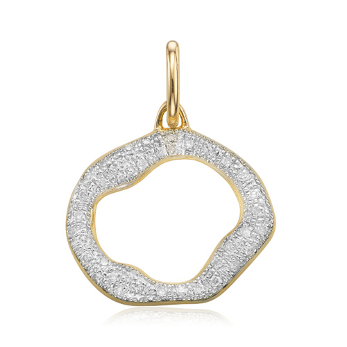 Gold Vermeil Riva Diamond Circle Pendant