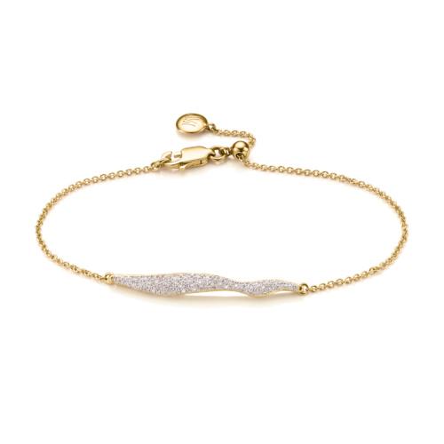 Gold Vermeil Riva Wave Chain Bracelet