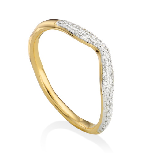 Gold Vermeil Riva Wave Stacking ring