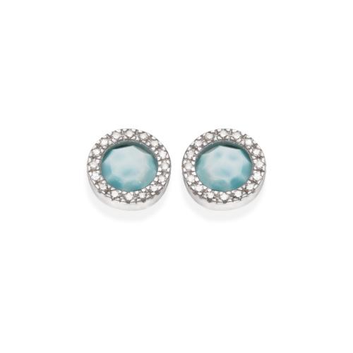 Naida Circle Stud Earrings - Larimar - Monica Vinader