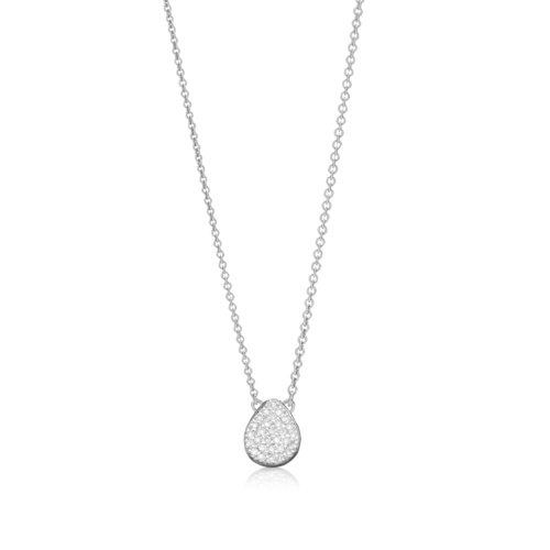 Alma Necklace - Diamond - Monica Vinader