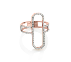 Rose Gold Vermeil Naida Cocktail Ring - Diamonds