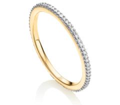 Gold Vermeil Skinny Eternity Ring - Diamond
