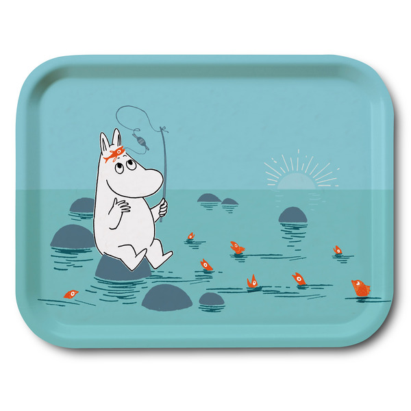Moomin fishing tray 27x20cm