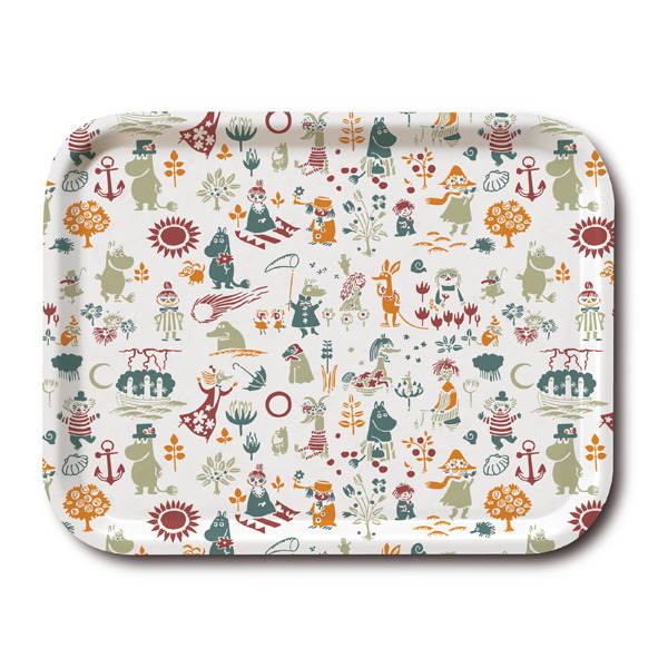 Moomin pattern tray orange 43 x 33 cm