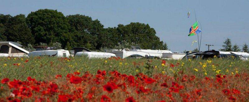 The Big Sky Campsite at Moonbeams Festival