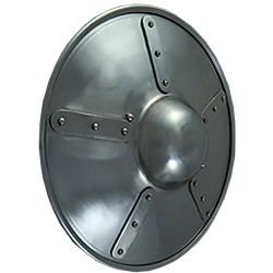 how to make a round metal shield