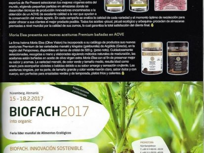Our Premium Olives at Mercacei magazine in Spain