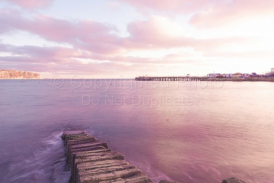 Sunrise over Swanage pier