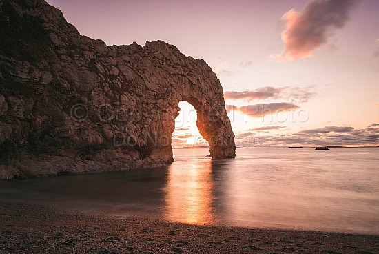 Long exposure over Durdle door