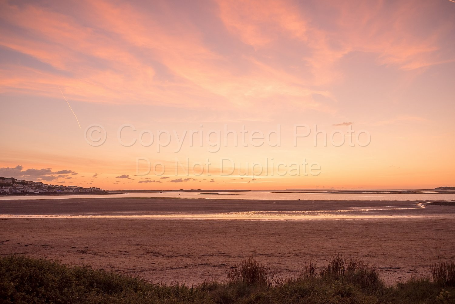Red skies over Instow beach