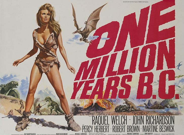 Raquel Welch One Million Years BC Movie Poster