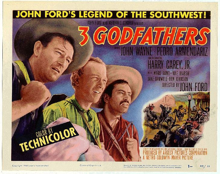 3 Godfathers with John Wayne poster