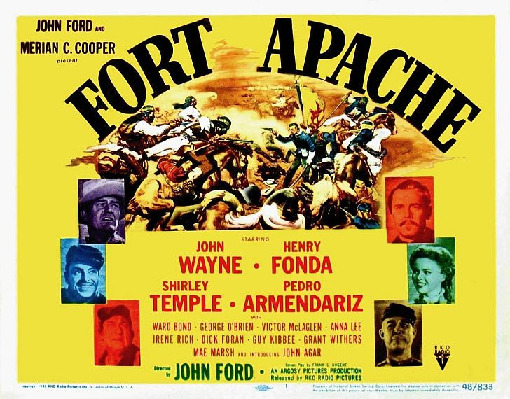 Fort Apache poster with John Wayne & Henry Fonda