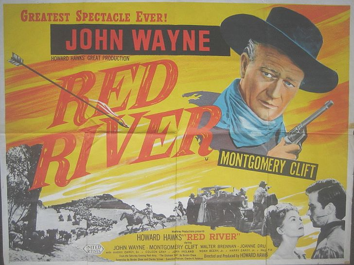 Red River (my) poster with John Wayne
