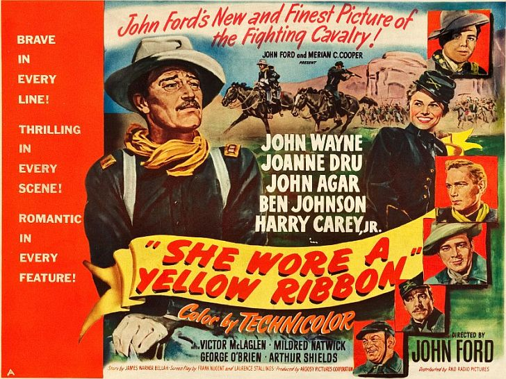 She Wore a Yellow Ribbon with John Wayne poster
